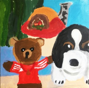 Hund trifft Bär_Schüler Art-Studio
