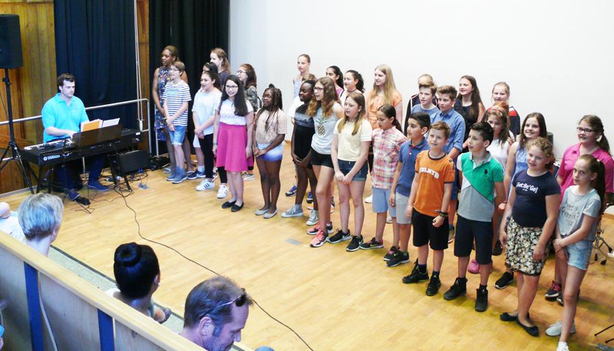 """Musikfestival """"Music meets School"""" des JBG"""
